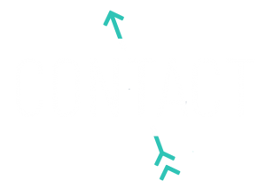Entreprise FLÈCH des idées brutes et créatives en gestion de projets créatifs, création de contenu section blogue contact blanc et turquoise